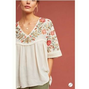 Ranna Gill Jumel Embroidered Blouse Top